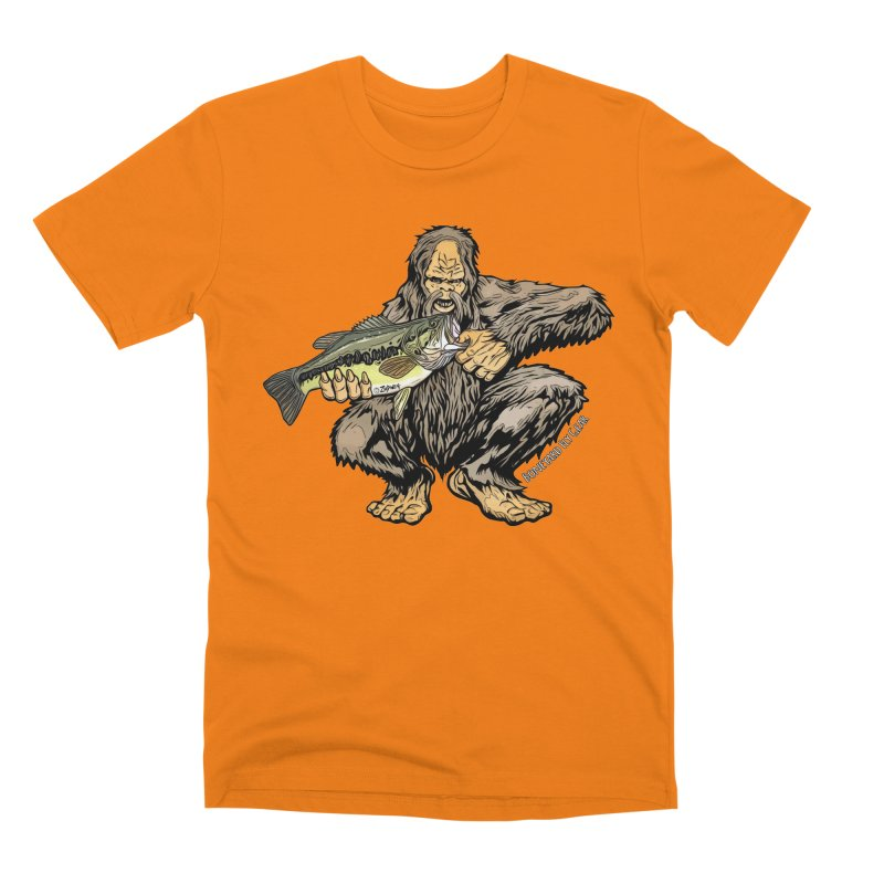 Squatch LM Bass XL Men's Premium T-Shirt by Boneyard Studio - Boneyard Fly Gear