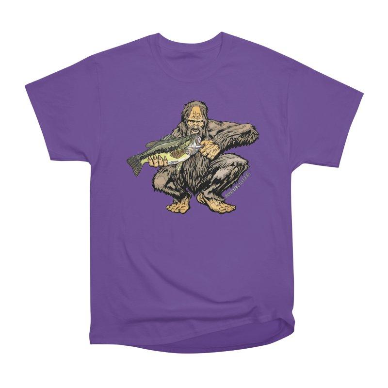 Squatch LM Bass XL Men's Heavyweight T-Shirt by Boneyard Studio - Boneyard Fly Gear