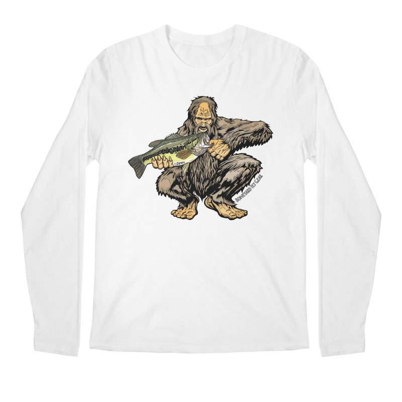 Squatch LM Bass XL Men's Regular Longsleeve T-Shirt by Boneyard Studio - Boneyard Fly Gear