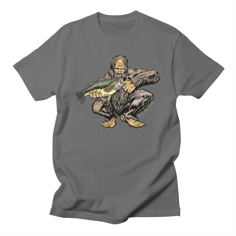 Squatch LM Bass XL Men's T-Shirt by Boneyard Studio - Boneyard Fly Gear