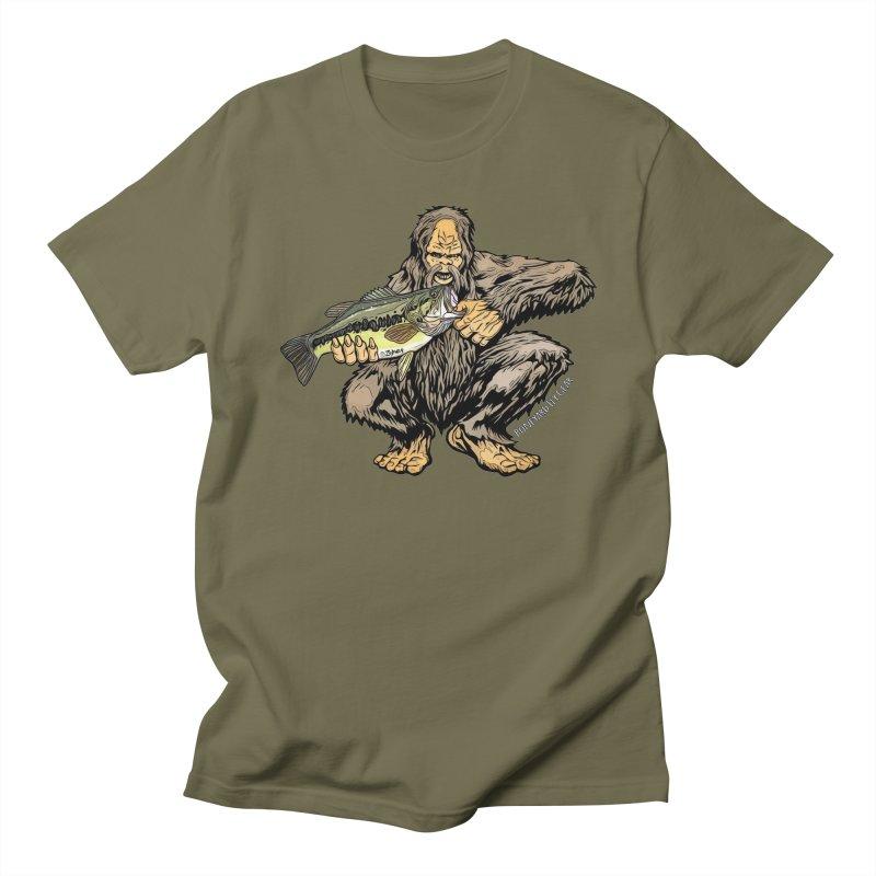 Squatch LM Bass XL Men's Regular T-Shirt by Boneyard Studio - Boneyard Fly Gear