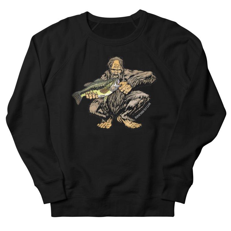 Squatch LM Bass XL Men's French Terry Sweatshirt by Boneyard Studio - Boneyard Fly Gear