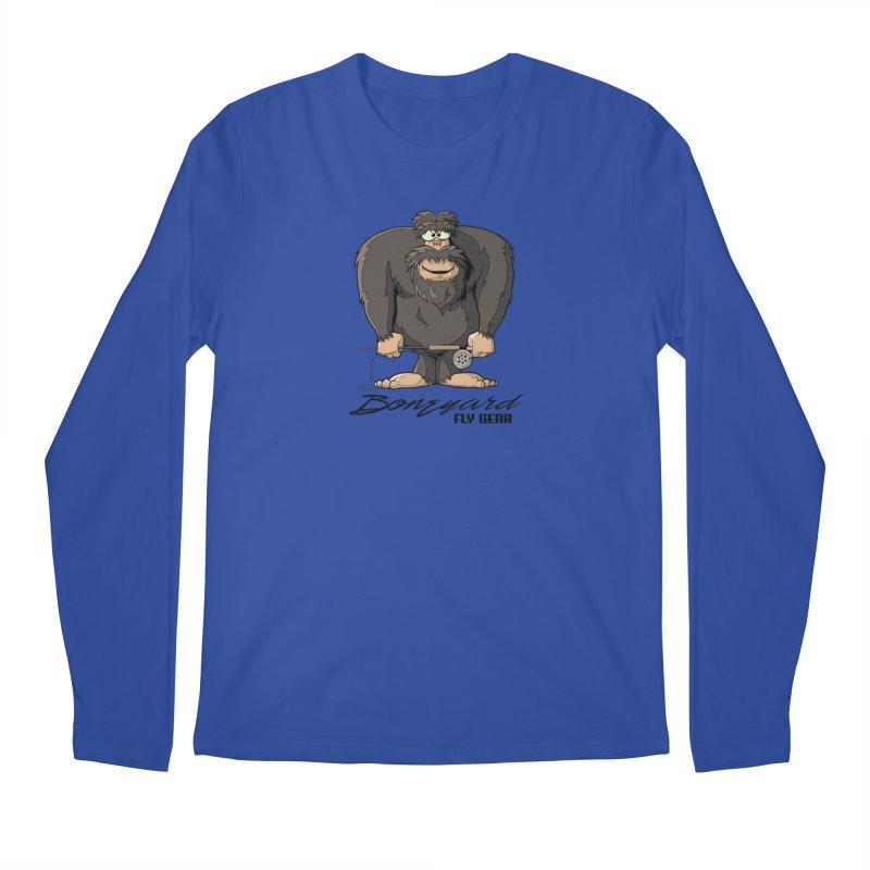 Squatch broke his rod Men's Regular Longsleeve T-Shirt by Boneyard Studio - Boneyard Fly Gear