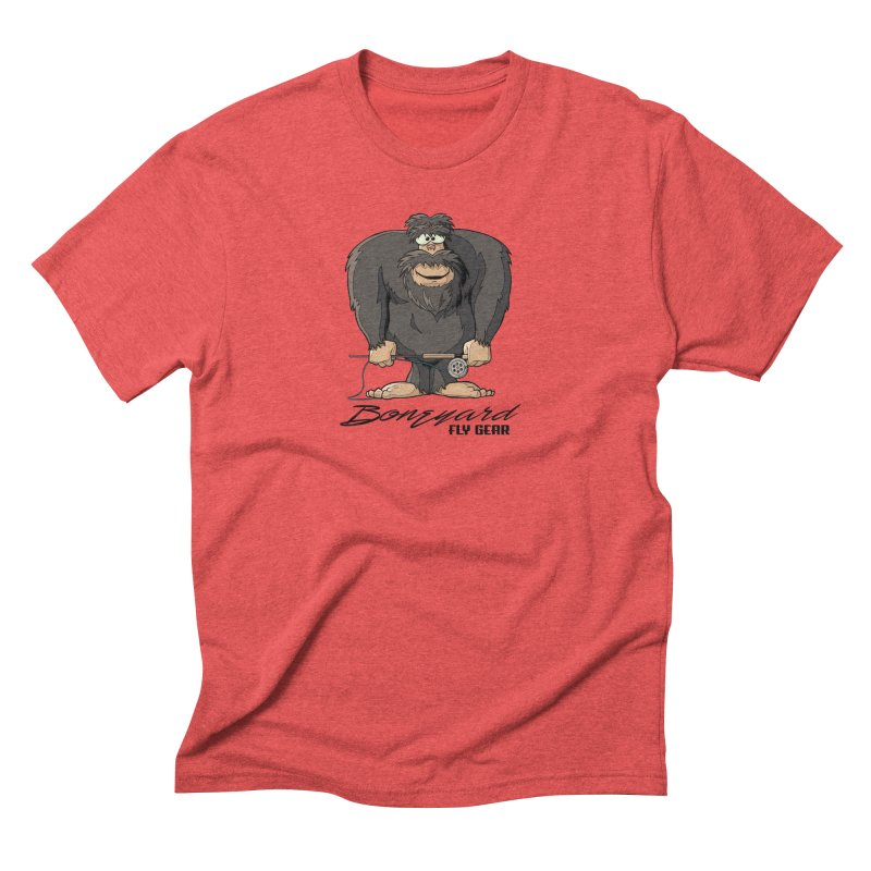 Squatch broke his rod Men's Triblend T-Shirt by Boneyard Studio - Boneyard Fly Gear