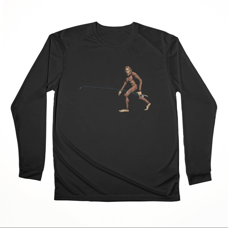 Squatch Spey Men's Performance Longsleeve T-Shirt by Boneyard Studio - Boneyard Fly Gear