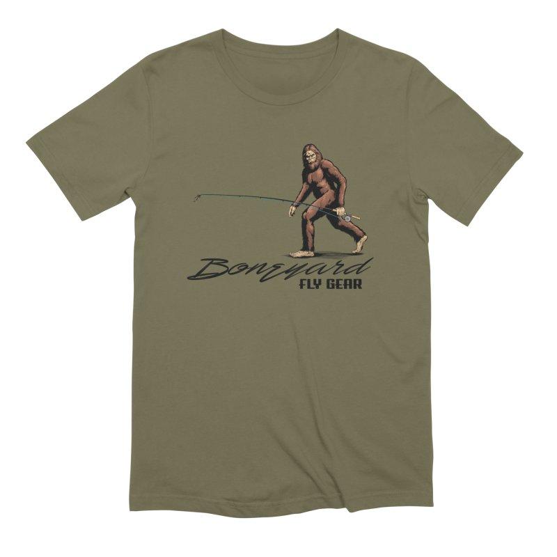 Squatch Spey Men's Extra Soft T-Shirt by Boneyard Studio - Boneyard Fly Gear