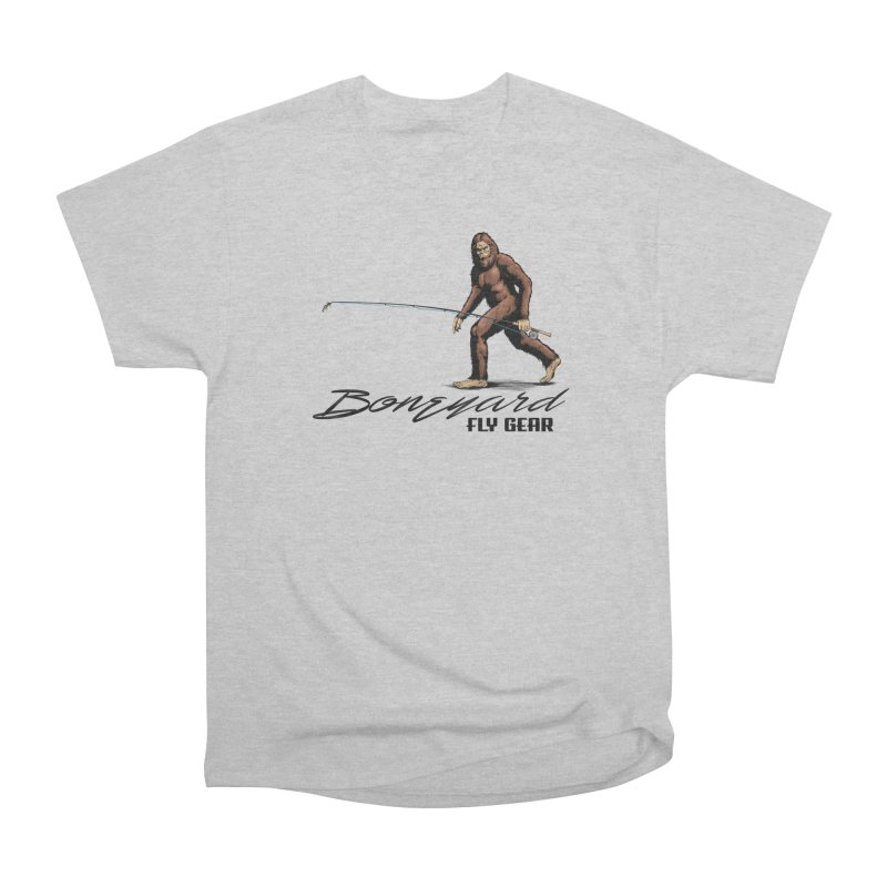 Squatch Spey Men's Heavyweight T-Shirt by Boneyard Studio - Boneyard Fly Gear