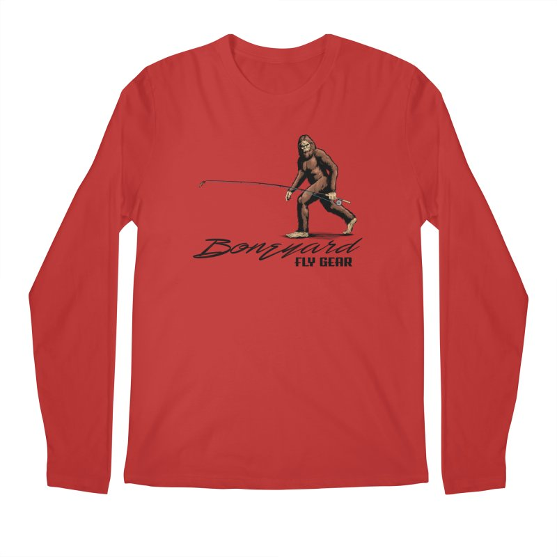 Squatch Spey Men's Regular Longsleeve T-Shirt by Boneyard Studio - Boneyard Fly Gear