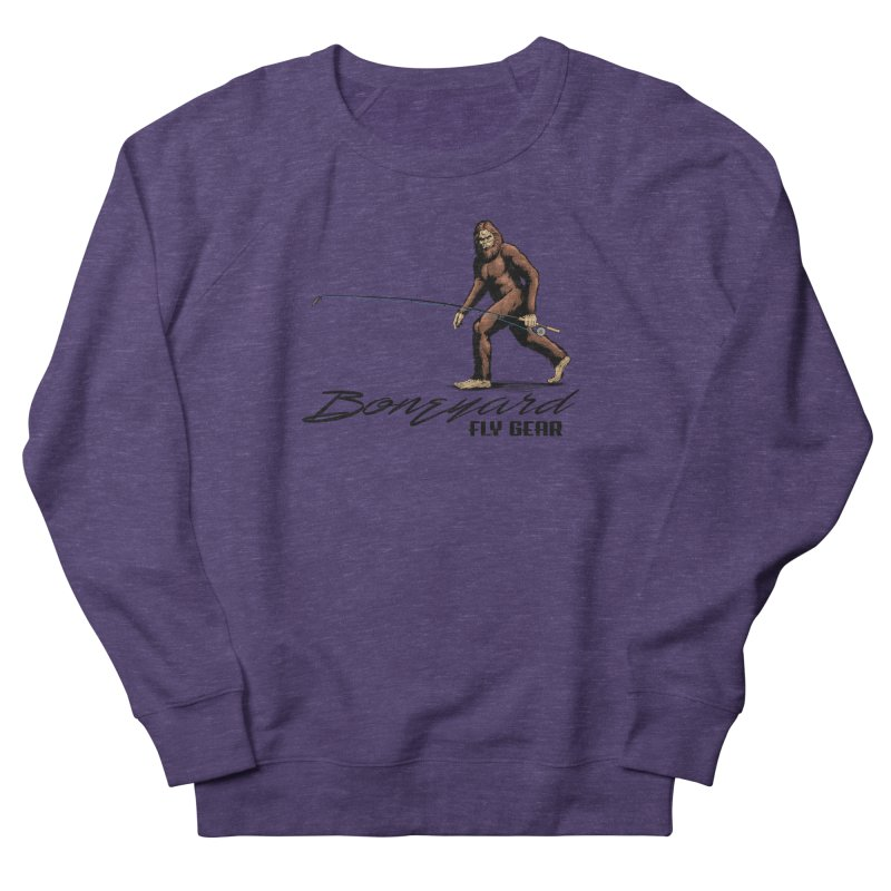 Squatch Spey Men's French Terry Sweatshirt by Boneyard Studio - Boneyard Fly Gear