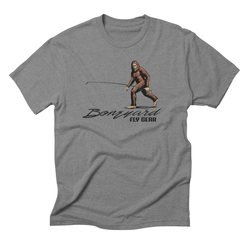 Squatch Spey in Men's Triblend T-Shirt Grey Triblend by Boneyard Studio - Boneyard Fly Gear