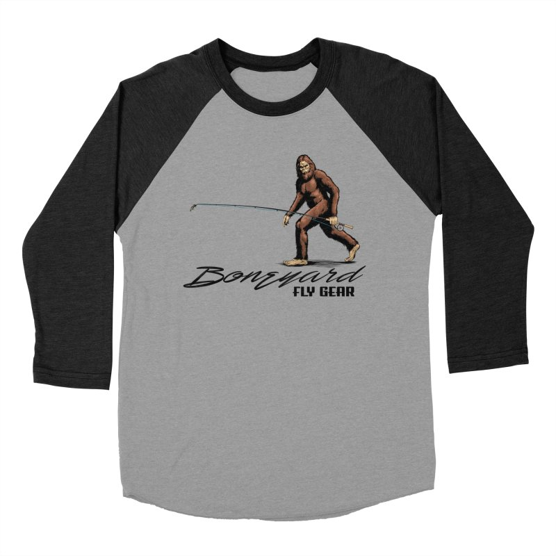 Squatch Spey Men's Baseball Triblend Longsleeve T-Shirt by Boneyard Studio - Boneyard Fly Gear