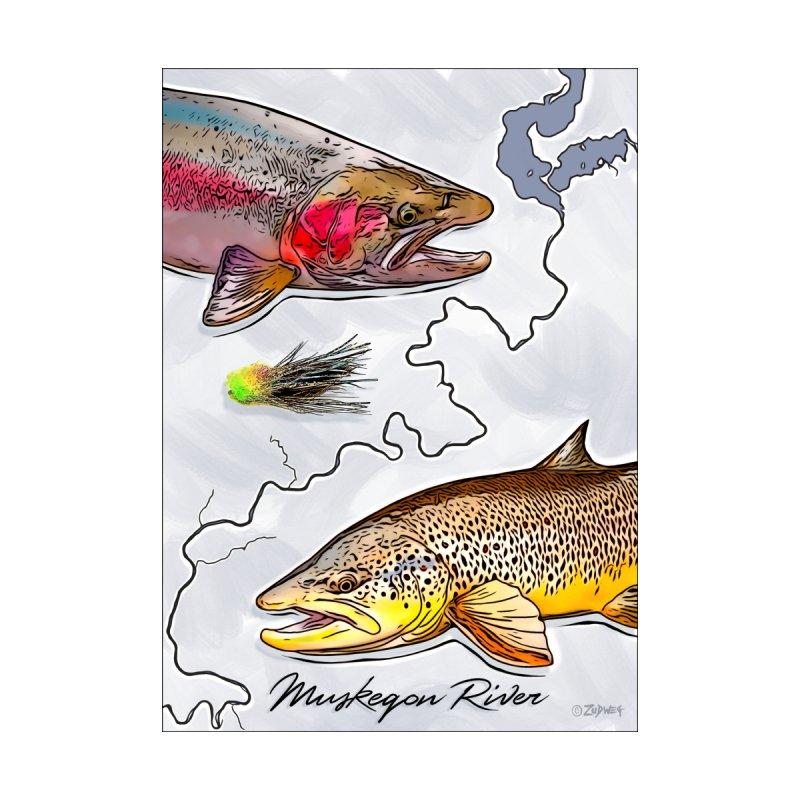 Muskegon River TU Poster by Boneyard Studio - Boneyard Fly Gear