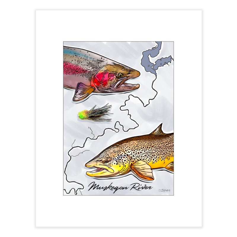 Muskegon River TU Poster Home Fine Art Print by Boneyard Studio - Boneyard Fly Gear