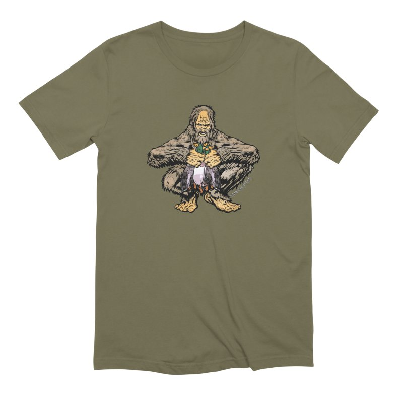 Squatch Duck Hunter Men's T-Shirt by Boneyard Studio - Boneyard Fly Gear