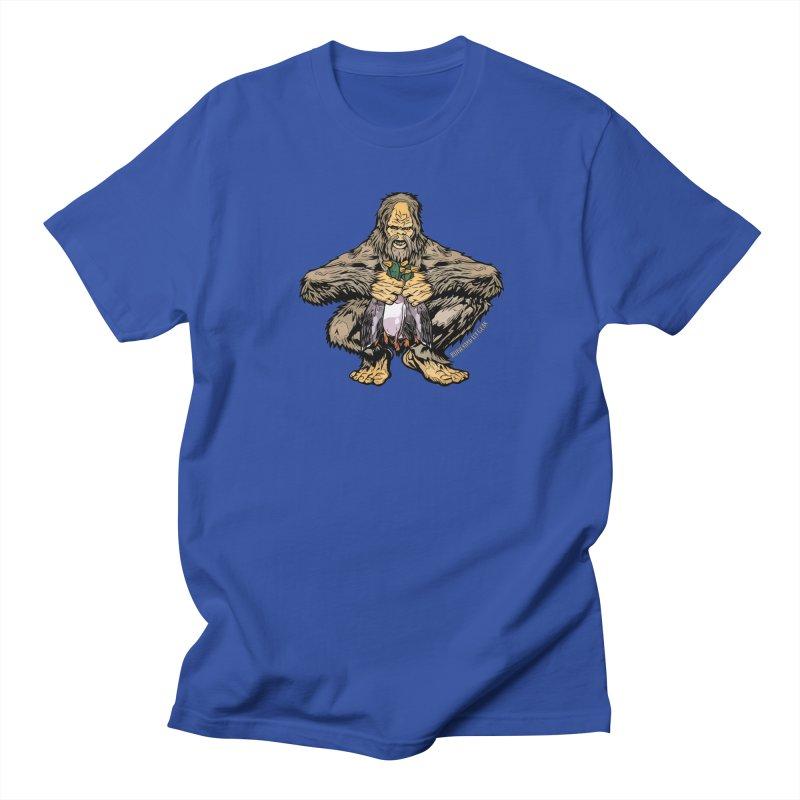 Squatch Duck Hunter Men's Regular T-Shirt by Boneyard Studio - Boneyard Fly Gear