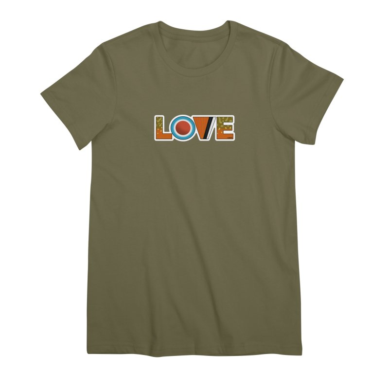 Love Brook Trout Women's Premium T-Shirt by Boneyard Studio - Boneyard Fly Gear