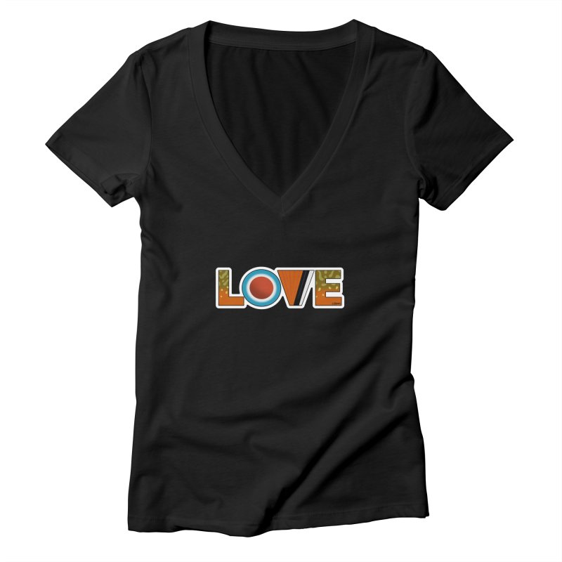 Love Brook Trout Women's Deep V-Neck V-Neck by Boneyard Studio - Boneyard Fly Gear