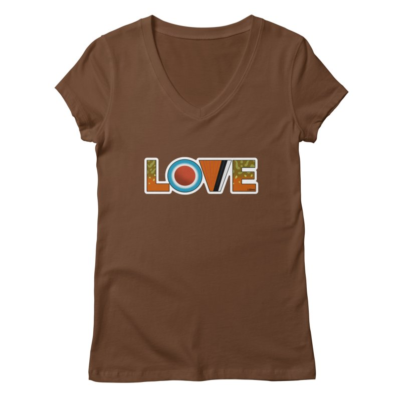 Love Brook Trout Women's Regular V-Neck by Boneyard Studio - Boneyard Fly Gear