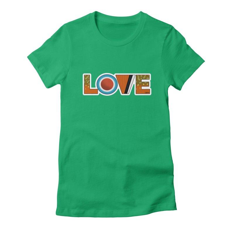 Love Brook Trout Women's Fitted T-Shirt by Boneyard Studio - Boneyard Fly Gear