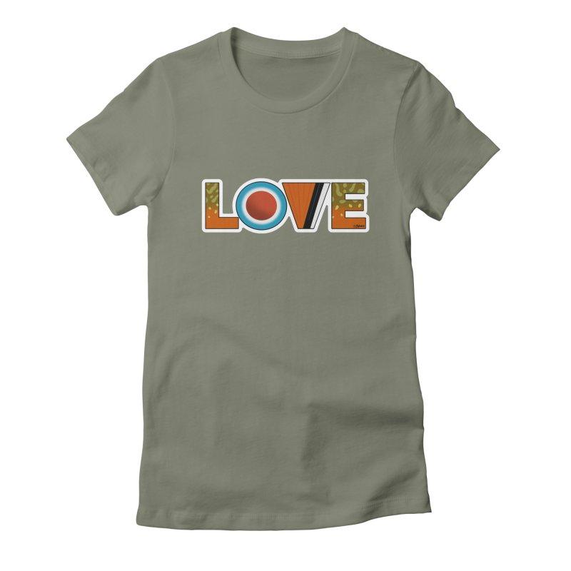 Love Brook Trout Women's T-Shirt by Boneyard Studio - Boneyard Fly Gear