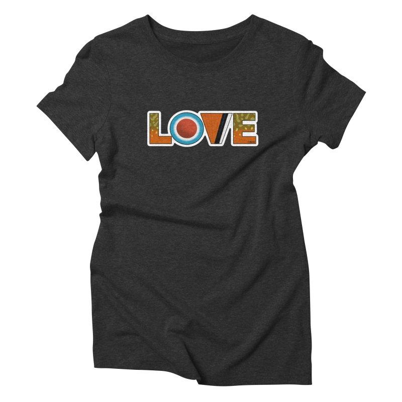 Love Brook Trout Women's Triblend T-Shirt by Boneyard Studio - Boneyard Fly Gear