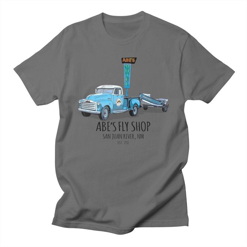 Abe's Fly Shop Adventure Rig 2 Men's T-Shirt by Boneyard Studio - Boneyard Fly Gear