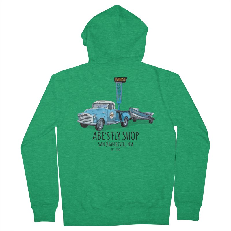 Abe's Fly Shop Adventure Rig 2 Men's French Terry Zip-Up Hoody by Boneyard Studio - Boneyard Fly Gear