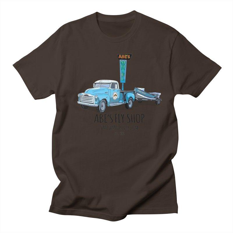 Abe's Fly Shop Adventure Rig 2 Men's Regular T-Shirt by Boneyard Studio - Boneyard Fly Gear