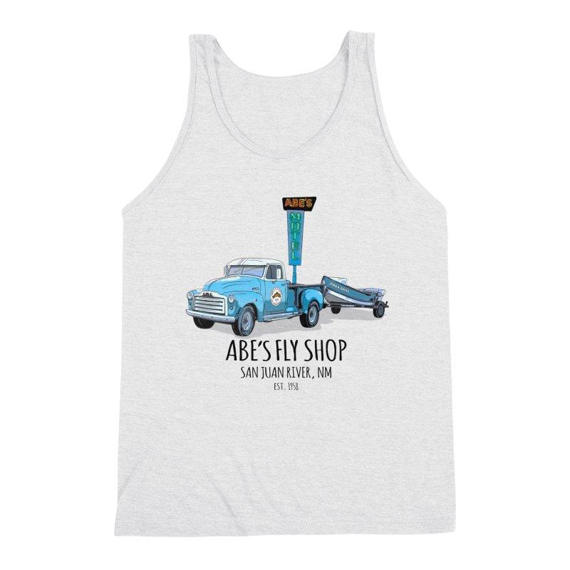 Abe's Fly Shop Adventure Rig 2 Men's Triblend Tank by Boneyard Studio - Boneyard Fly Gear