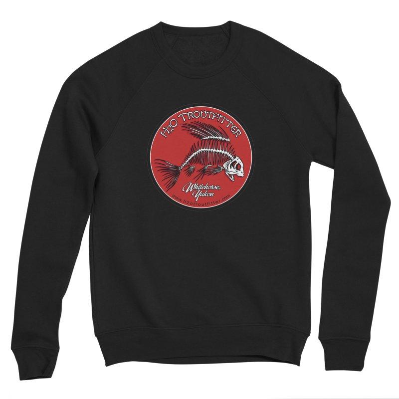 H2O Troutfitter - original logo Men's Sponge Fleece Sweatshirt by Boneyard Studio - Boneyard Fly Gear