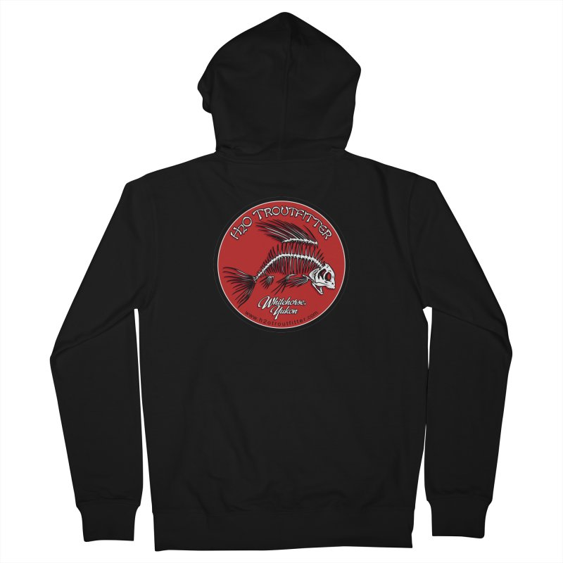 H2O Troutfitter - original logo Men's French Terry Zip-Up Hoody by Boneyard Studio - Boneyard Fly Gear