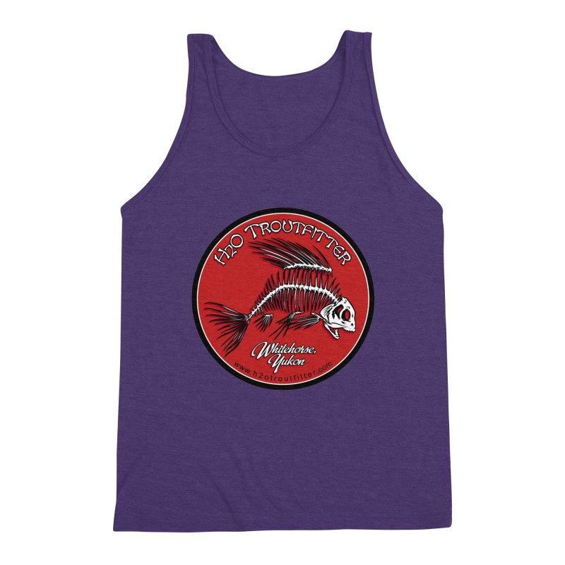 H2O Troutfitter - original logo Men's Triblend Tank by Boneyard Studio - Boneyard Fly Gear