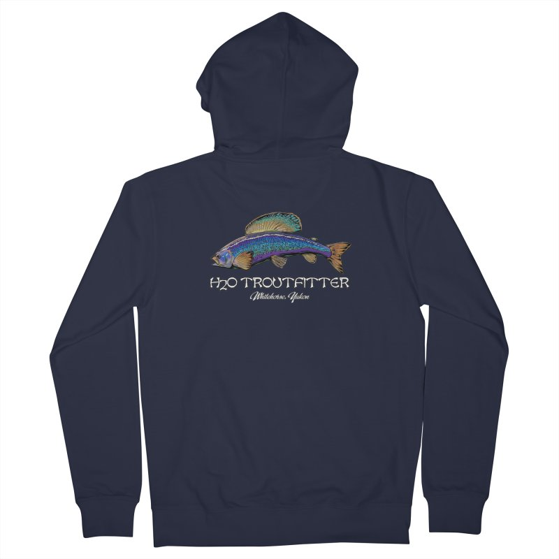 H2O Troutfitter Grayling Men's French Terry Zip-Up Hoody by Boneyard Studio - Boneyard Fly Gear