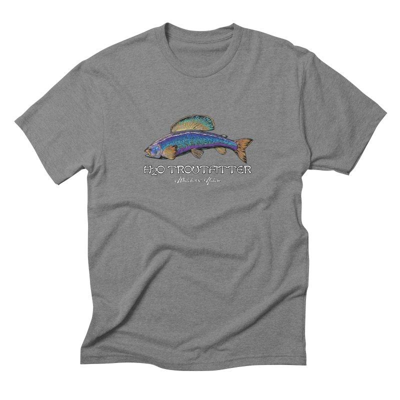 H2O Troutfitter Grayling in Men's Triblend T-Shirt Grey Triblend by Boneyard Studio - Boneyard Fly Gear