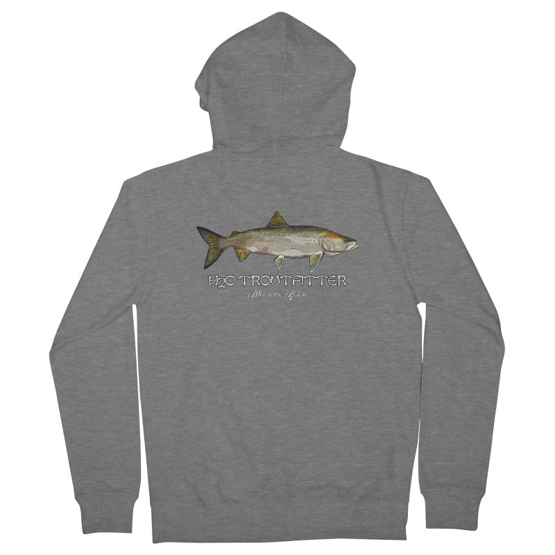 H2O Troutfitter Inconnu Men's French Terry Zip-Up Hoody by Boneyard Studio - Boneyard Fly Gear