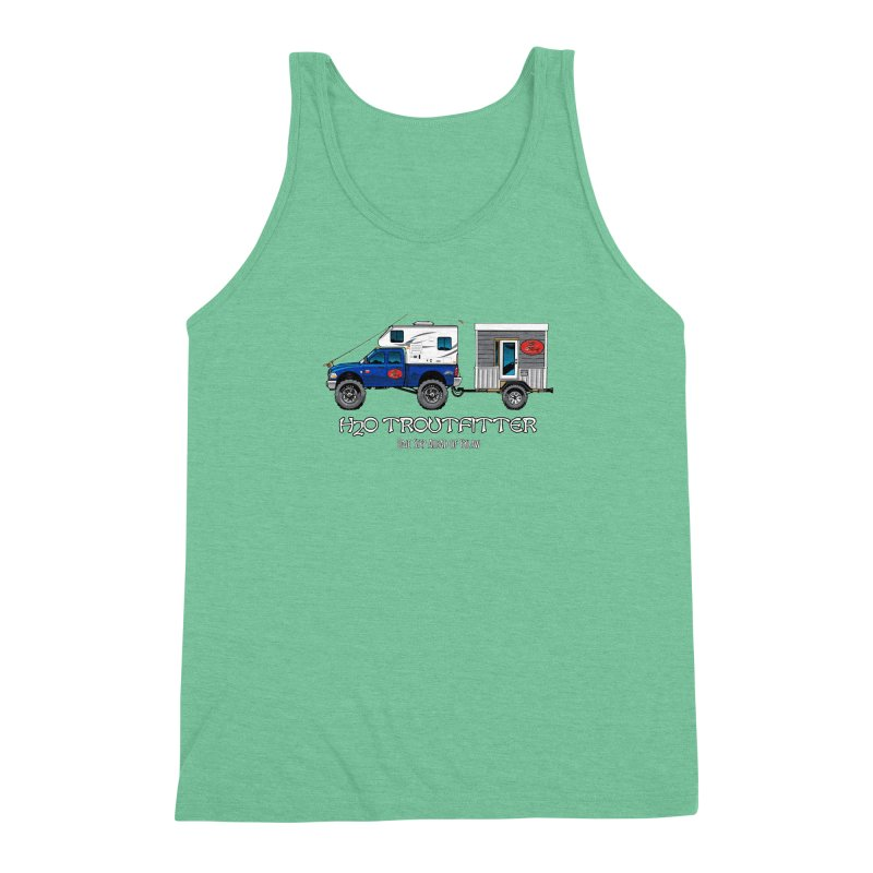 H2O Troutfitter Traveling Fly Shop Men's Triblend Tank by Boneyard Studio - Boneyard Fly Gear