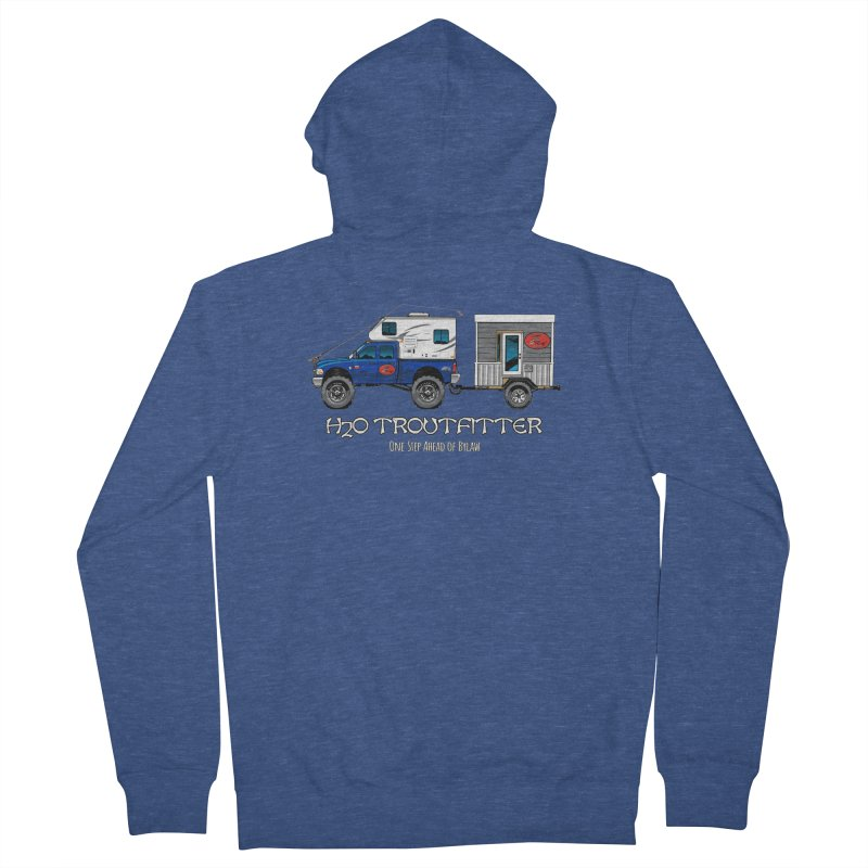 H2O Troutfitter Traveling Fly Shop Men's French Terry Zip-Up Hoody by Boneyard Studio - Boneyard Fly Gear