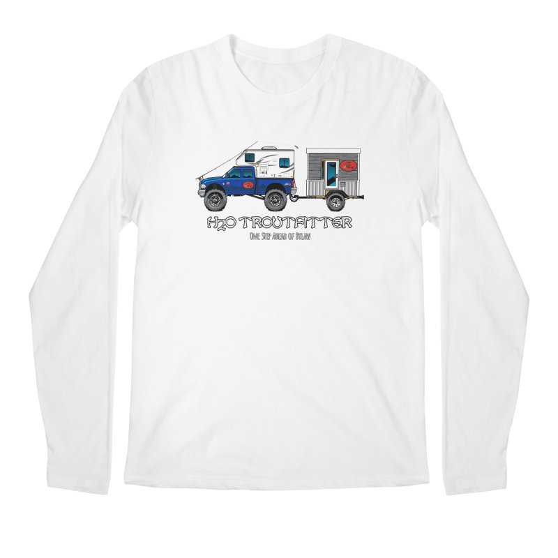 H2O Troutfitter Traveling Fly Shop Men's Longsleeve T-Shirt by Boneyard Studio - Boneyard Fly Gear