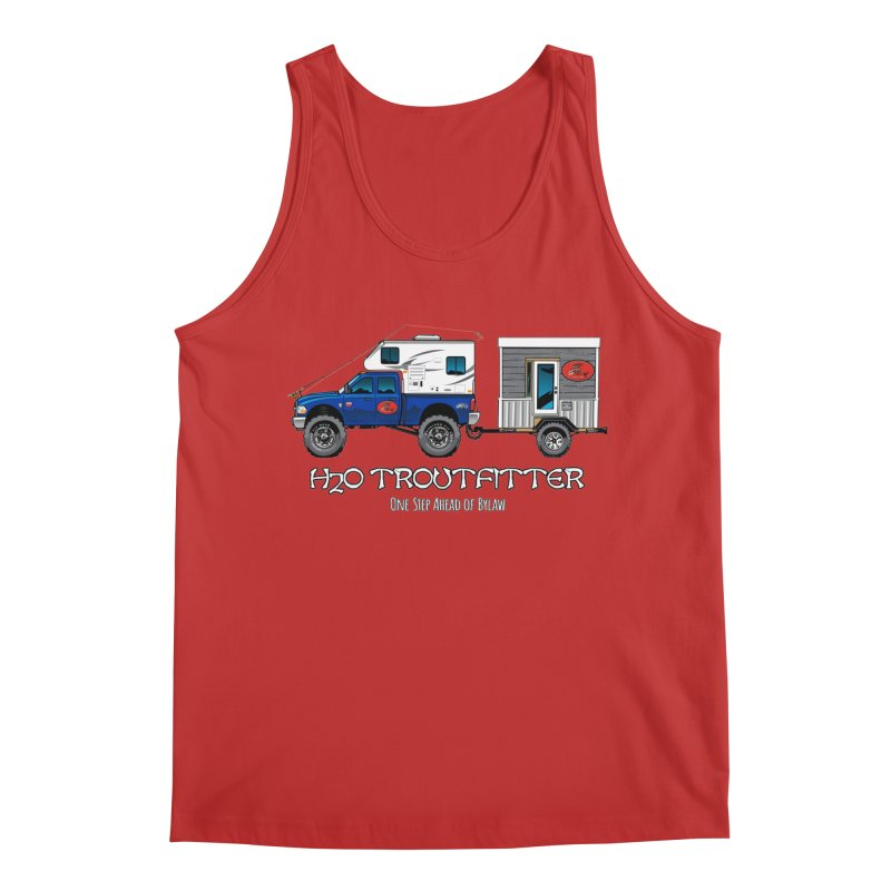 H2O Troutfitter Traveling Fly Shop Men's Regular Tank by Boneyard Studio - Boneyard Fly Gear