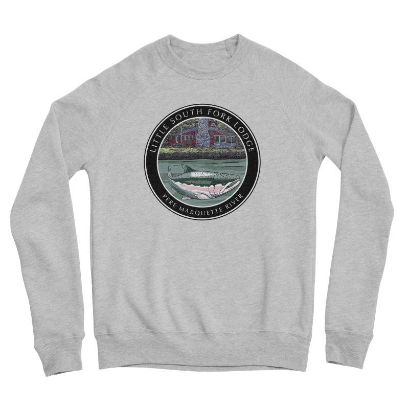 Little South Fork Lodge Men's Sponge Fleece Sweatshirt by Boneyard Studio - Boneyard Fly Gear