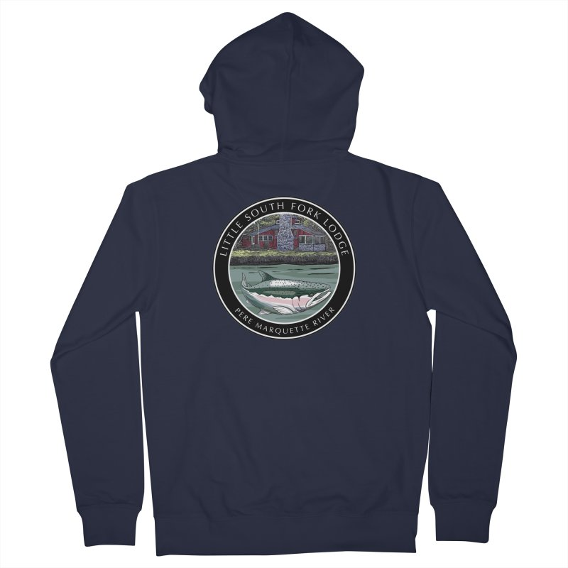 Little South Fork Lodge Men's French Terry Zip-Up Hoody by Boneyard Studio - Boneyard Fly Gear
