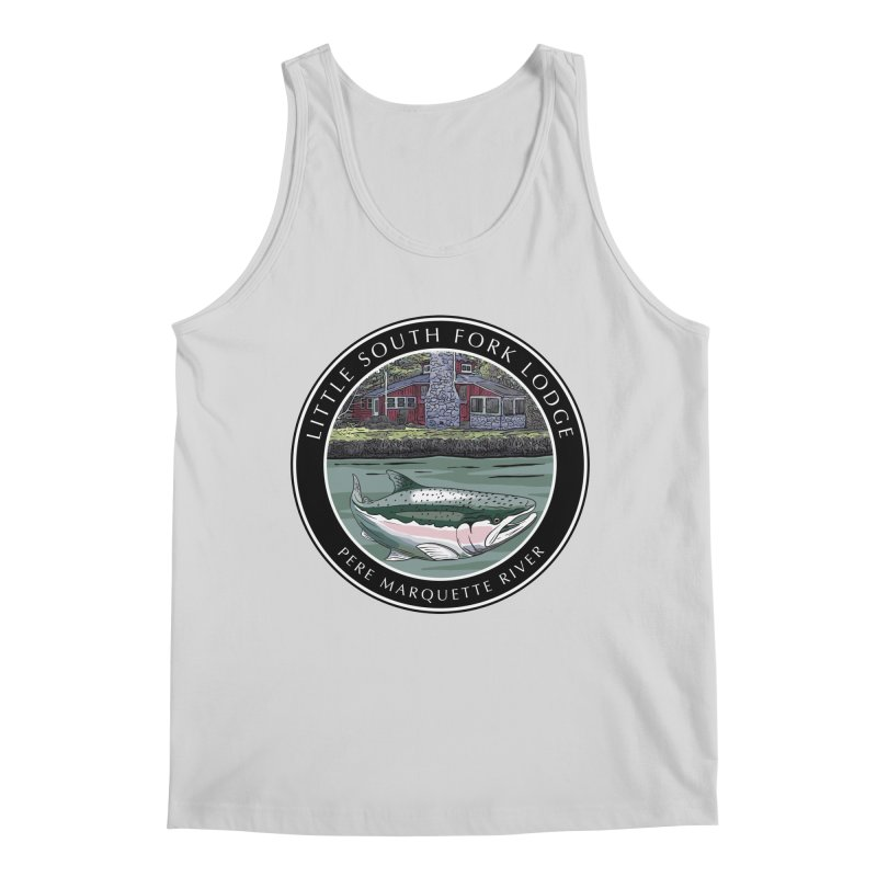 Little South Fork Lodge Men's Regular Tank by Boneyard Studio - Boneyard Fly Gear