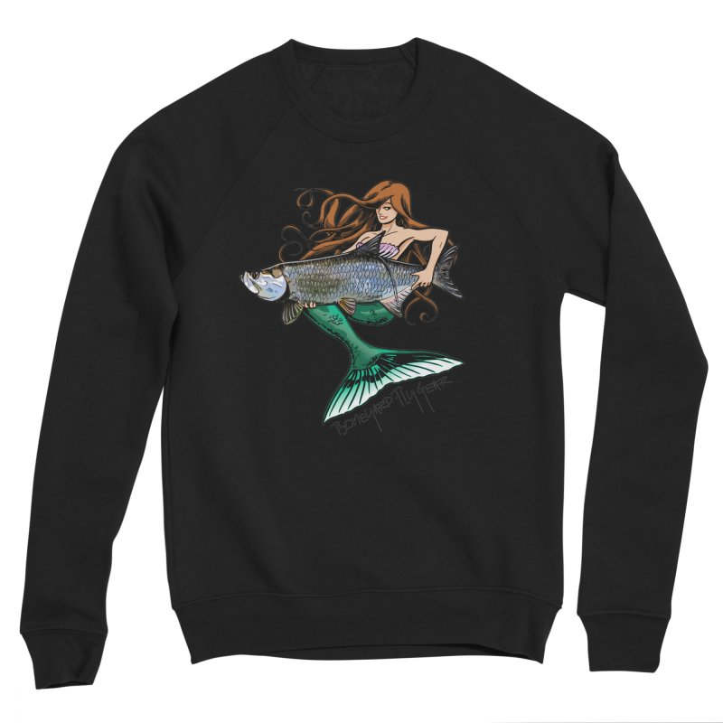 Mermaid Tarpon Women's Sponge Fleece Sweatshirt by Boneyard Studio - Boneyard Fly Gear