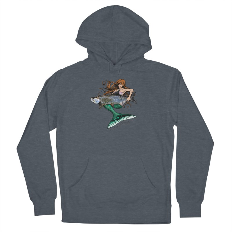 Mermaid Tarpon Women's French Terry Pullover Hoody by Boneyard Studio - Boneyard Fly Gear