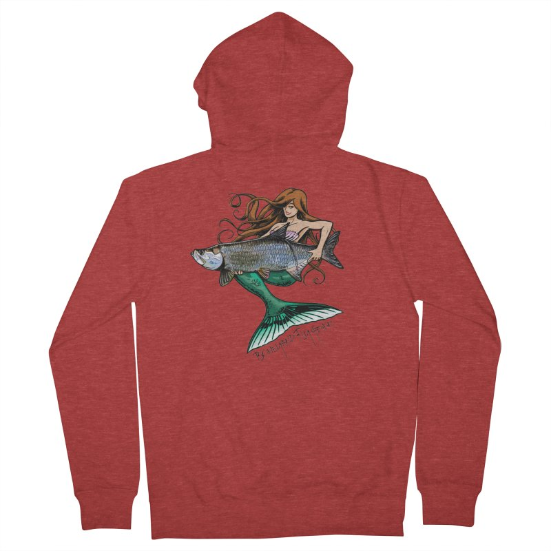 Mermaid Tarpon Men's French Terry Zip-Up Hoody by Boneyard Studio - Boneyard Fly Gear