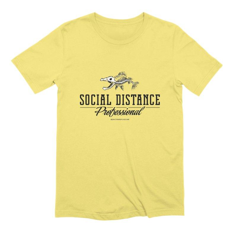 Social Distance Pro Men's Extra Soft T-Shirt by Boneyard Studio - Boneyard Fly Gear
