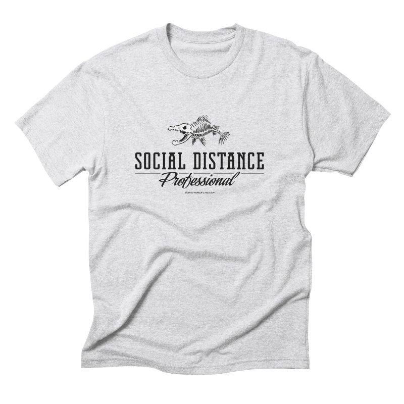 Social Distance Pro Men's Triblend T-Shirt by Boneyard Studio - Boneyard Fly Gear