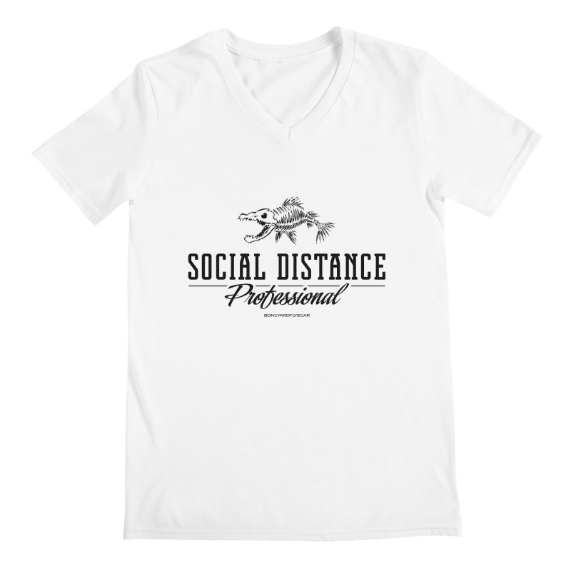 Social Distance Pro Men's Regular V-Neck by Boneyard Studio - Boneyard Fly Gear