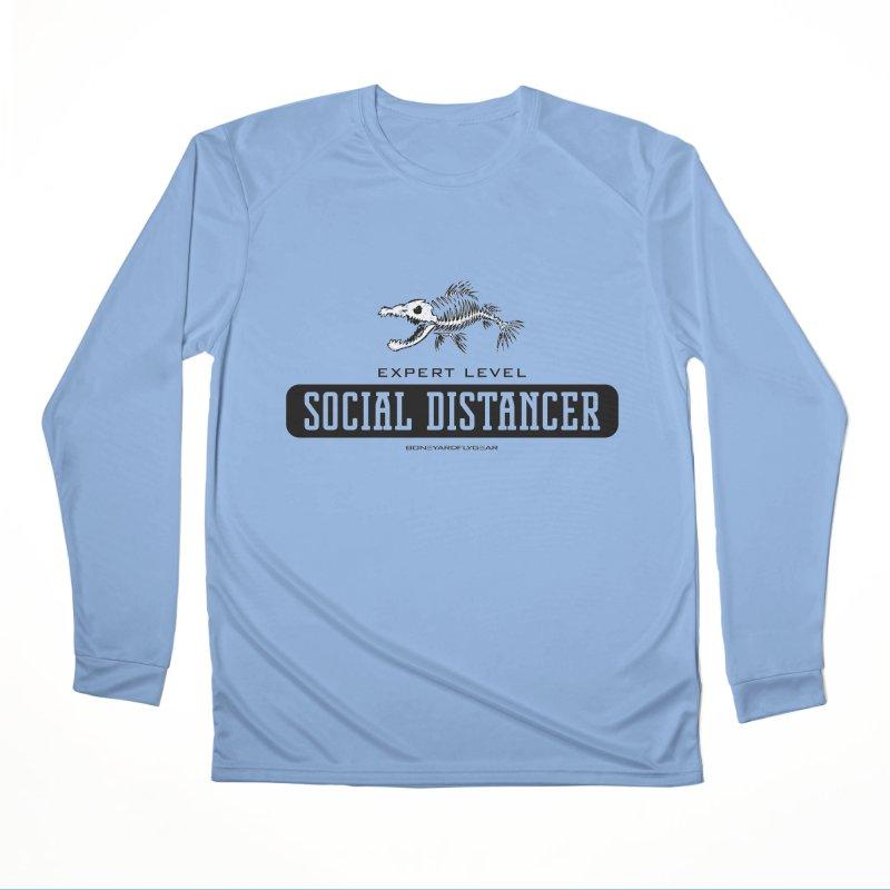 Expert Level Social Distancer Men's Performance Longsleeve T-Shirt by Boneyard Studio - Boneyard Fly Gear