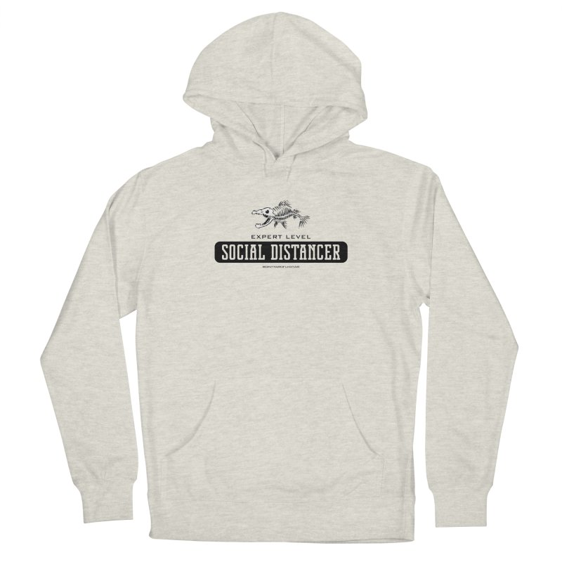 Expert Level Social Distancer Men's French Terry Pullover Hoody by Boneyard Studio - Boneyard Fly Gear